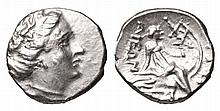 EUBOEA HISTIAIA. 340-330 BC. AR Tetrobol.  Head of nymph Histiaea ANCIENT GREEK COIN