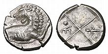THRACE. Chersonesos. AR Hemidrachm 386-338 BC. ANCIENT GREEK COIN
