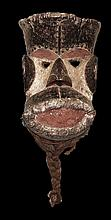 CARVED BETE MASK WITH BEARD EARLY 1900 VERY RARE AFRICAN FINE ART