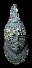 MALI SENUFO TRIBE WOODEN MALE HEAD EARLY 1900 39 cm RARE AFRICAN FINE ART