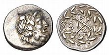 PELOPONNESOS Achean league After 280 BC. AR Hemidrachm Antigoneia mint.