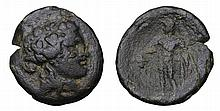 MARONEIA. 400-350  BC. AE Unit. Head of young Dionysos ANCIENT GREEK COIN