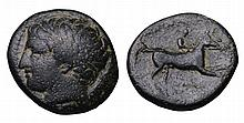 KINGDOM OF MACEDONIA. Philip II. 359-336 BC. AE unit. Head of Apollo ANCIENT GREEK COIN
