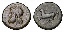 SICILY. Syracuse. Timoleon And Third Democracy. 344-317 BC. AE Dilitron. head of Zeus