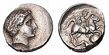 KINGDOM OF PAEONIA. Patraos 340-315 BC. AR Tetradrachm. head of apollo ANCIENT GREEK COIN