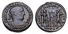 Constantius II. 337-361 AD. AE Nummus.  ROMAN COIN