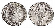 Valerian I. 253-260 AD. AR Antoninianus. FELICITAS AVGG. Felicitas standing left