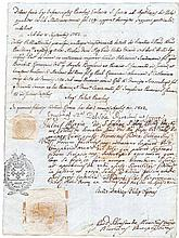 Ancient manuscript passed by consulate of Papal States and Two Sicily Kingdom. Rome 1802. Wedding certificate  Language: Italian and Latin