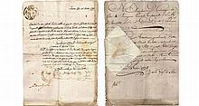Italy. Livorno. 15 January 1792. Death certificate manuscript of Livorno's hospital.