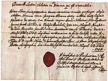 Italy. Kingdom of Naples 1744. Military service with sealing wax.