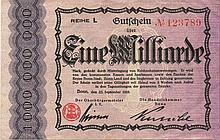 1 MILIARDE MARK 1923 GERMANY