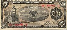 GOVERNO PROVVISORIO DEL MESSICO 20 PESOS 1914 MEXICO