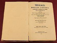 Theologia moralis universa. Volume 3rd. Petro Scavini. Milano 1865. Language: Latin.1098 gr. - 25x16x5 pag 804