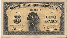 5 FRANCS 1942  FRENCH WEST AFRICA
