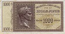 1000 DRACME ISOLE JONIE 1942 - NC  ITALY