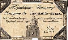 50 LIVRES 14.12.1792 - ASSIGNAT FRANCE