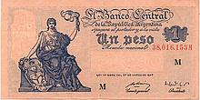 1 PESO 1947 (1948-1951) ARGENTINA BANK NOTE