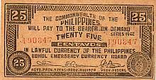25 CENTAVOS 1942 BOHOL PROVINCE