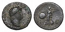 Nero. 54-68 AD. AE As. Victory Flying