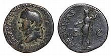 Vespasian. 69-79 AD. AE As. AEQVITAS AVGVST