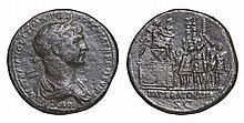 Trajan. AE Sestertius. 114-117 AD. ROMAN EMPIRE COIN