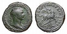 Trajan. 98-117 AD. AE Dupondius. SPQR OPTIMO PRINCIPI Trajan galopping