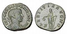 Gordian III. 238-244 AD. AE Sestertius. LAETITIA A