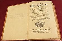 Ancient book 1751 Joannis De Lugo Hispalensis, e Societate Jesu. Less 10 known