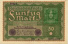 50 MARK 1919 GERMANY BANK NOTE - PAPER MONEY