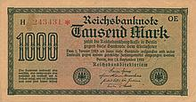 1000 MARK 1922 GERMANY BANK NOTE - PAPER MONEY