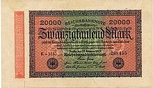 20000 MARK 1923 GERMANY BANK NOTE