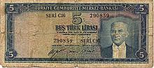 10 LIRA 1930 (1952) TURCHIA BANK NOTE