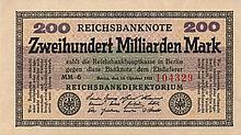 200 MILIARDEN MARK 1923 RARE QFDS GERMANY