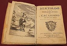 BERTOLDO CON BERTOLDINO E CACASENNO IN OTTAVA RIMA. Venezia. 1737. Language: Italian Very Rare RARE ANCIENT BOOK