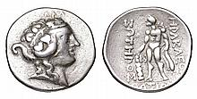 THRACE. Thasos. After 148 BC. AR Tetradrachm. Diademed Head Of Youthful Dionysos