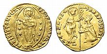VENICE DUKE FRANCESCO FOSCARI 1423-1457 AD GOLD DUKAT MEDIEVAL COIN