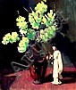 ALAN McKENZIE (AUS), Original Oil Painting on Board, Title:  Oriental Ceramic with Flowers