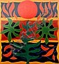 JOHN COBURN (1925 - 2006), Decorative Offset Lithograph, Title:  Canticle of the Sun
