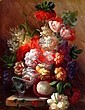 ROBERT COX, Original Oil Painting on Board, Title:  Mixed Bouquet