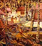 KEN JOHNSON (1950 - ), Original Oil Painting on Board, 1975, Title:  Island Scene, Signed Lower Right, Dated Lower Right