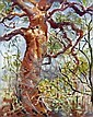 ALAN McKENZIE (AUS), Original Oil Painting on Board, Title:  Old Gum, Signed Lower Right