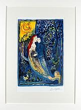 MARC CHAGALL (1887 - 1985), Medium: Limited Edition Lithograph - EXPENSIVE NEW FRAME, Title: `Untitled`