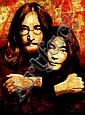 SHEPARD FAIREY (1970 - ), Decorative Offset Lithograph, Title:  John Lennon and Yoko Ono