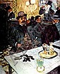 HENRI DE TOULOUSE-LAUTREC (1864 - 1901), Vintage Plate, Circa 1920, Title:  M. Boileau at the Café