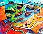 SARA CATENA, Original Acrylic Painting on Canvas, Title:  Seasons of the Bay, Signed Lower Right, Titled Verso