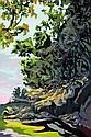 ADRIENNE CROUCH (1953 - ), Original Gouache Painting, Title:  Vivid Landscape, Artist Details Verso