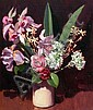 ALAN McKENZIE (AUS), Original Oil Painting on Board, Title:  Floral Study
