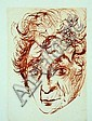 SALVADOR DALI (1904 - 1989), Original Etching, Posthumous Release, Title:  Portrait of Marc Chagall