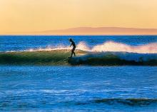 Rodionoff Limited Edition Photography on canvas-Sandy Sky Surfer