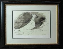 Pablo Picasso Limited Edition Lithograph Peace Dove